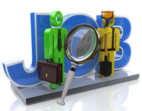 Поиск работы и концепция занятости карьеры отборная Стоковые Изображения RF