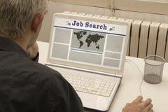 Поиск работы онлайн Стоковая Фотография