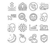 Поиск стороны, значки диаграммы и группы Быстрые подсказки, гибкость и онлайн знаки документации вектор бесплатная иллюстрация