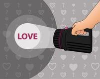 Поиск для влюбленности Стоковые Изображения RF