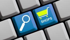 Поиск для онлайн магазинов Стоковые Фото