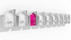 Поиск для соответствующего снабжения жилищем Стоковые Фото