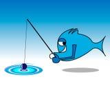 пойденное рыболовство рыб Стоковая Фотография RF