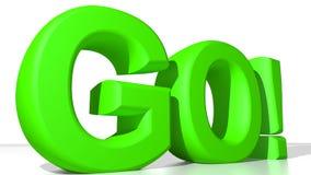 ПОЙДИТЕ! зеленый цвет бесплатная иллюстрация