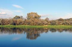 Пойма реки Berezina Осень Конец от сентябрь бабье лето Стоковые Изображения