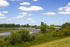 Поймы вдоль Рейна, Нидерландов Стоковое Фото