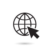 Пойдите к иллюстрации вектора значка сети Стоковые Изображения