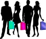 пойдите ходить по магазинам к twosomes Стоковая Фотография