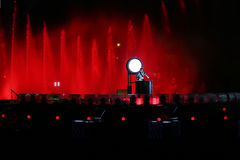 Покажите круг света в Москве Стоковое фото RF