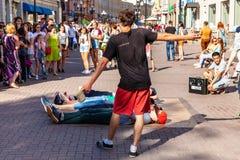Покажите на улице Arbat Стоковые Изображения RF