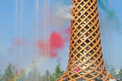 Покажите на экспо с светами и цветами Стоковые Изображения RF