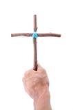 Покажите один деревянный крест стоковые изображения