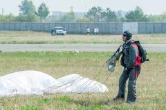 Покажите программу парашютиста Стоковое фото RF