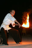 Покажите с пожаром Стоковые Изображения