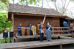 покажите тайское традиционное стоковое фото