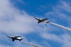 Показательные полеты голубого импульса Стоковое фото RF
