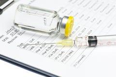 Показатель вакцинирования стоковые изображения rf