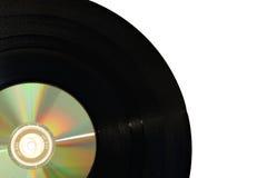 Показатель винила с компактным диском Стоковое Изображение RF