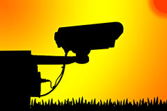 Показатель видео камеры силуэта. Стоковая Фотография RF