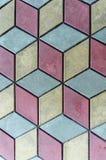 Показная предпосылка картины плитки 3 цветов, городка Septemvri, Pazardzhik, Болгарии Стоковое фото RF