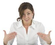 показывать возмужалую женщину себя портрета стоковое изображение