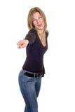 показывать женщину Стоковое Изображение RF