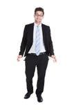 показывать карманн бизнесмена пустой стоковое изображение rf