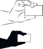 Показывать карточку Стоковые Изображения RF