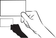 Показывать карточку Стоковое Изображение