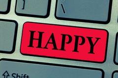 Показывать примечания сочинительства счастливый Довольство чувства фото дела showcasing или удовольствия показа о что-то персона стоковое изображение