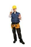 показывать работника стопа знака Стоковые Фотографии RF
