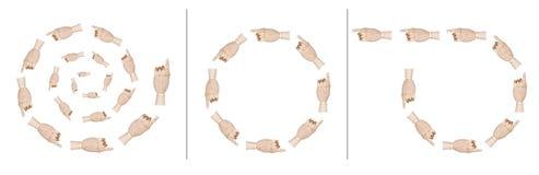 Показывать руки Стоковые Фото