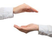 Показывать руки Стоковые Изображения RF