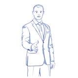 Показывать рукопожатия бизнесмена иллюстрация штока