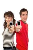 показывать экранов мобильных телефонов Стоковая Фотография RF