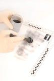 Показывающ и сохраняющ отпечатки пальцев Стоковое фото RF
