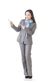 Показ бизнес-леди стоковое изображение rf