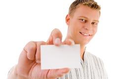 показ визитной карточки мыжской Стоковые Фото