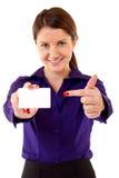 показ визитной карточки Стоковое фото RF