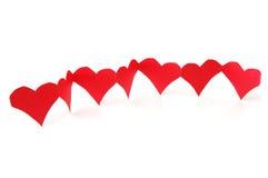 показ влюбленности сердец красный Стоковое Изображение