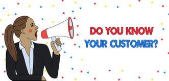 Показ знака текста вы знаете ваш вопрос о клиента Схематическое обслуживание фото определить клиентов с уместным иллюстрация штока