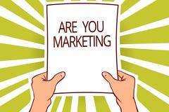 Показ знака текста вы маркетинг Схематические действия фото для того чтобы повысить продажи продукта бренда в бумаге рынка вызыва бесплатная иллюстрация