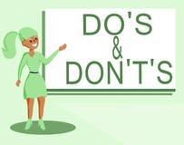 Показ знака текста делает s и Дон t не s Схематическая запутанность фото в one разуме о что-то иллюстрация штока