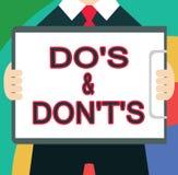 Показ знака текста делает s и Дон t не s Схематическая запутанность фото в one разуме о что-то бесплатная иллюстрация