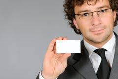 показ карточки бизнесмена дела emty Стоковые Фотографии RF