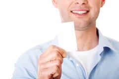 показ карточки бизнесмена дела Стоковое Фото