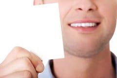 показ карточки бизнесмена дела Стоковая Фотография RF
