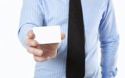 показ карточки бизнесмена дела Стоковая Фотография
