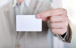 показ карточки бизнесмена дела Стоковые Изображения RF