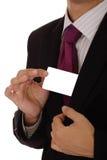 показ карточки бизнесмена Стоковая Фотография